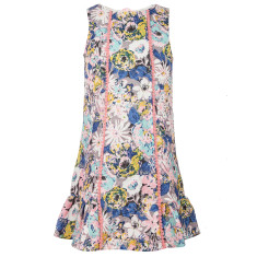 Girls' bow peep A line dress