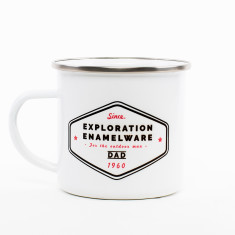 Exploration Personalised Enamel Mug