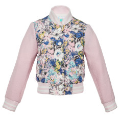 Girls' bow peep jacket