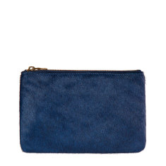 Maud leather wallet in blue