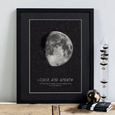 Personalised special date moon phase print