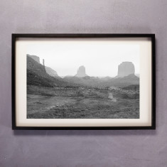 Desert in Black & White Photographic Print
