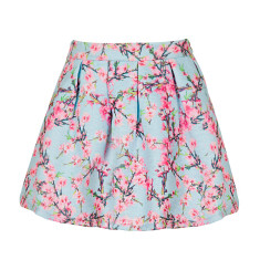 Girls' cherry blossom skirt