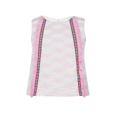 Girls' festival fringe top