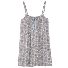 Nightie in grey blossom