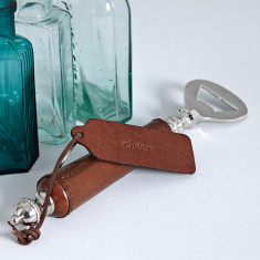 Personalised leather bottle opener