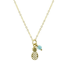 Golden pineapple pendant