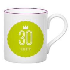 Thirty birthday mug