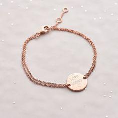 Personalised Circle Charm Bracelet