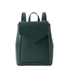 Chic Leather Backpack For College In Green
