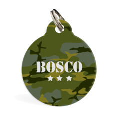 Personalised standard pet ID tag (Camo)