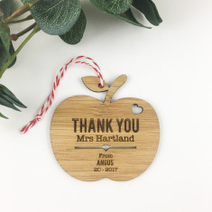Personalised Thank You Apple Ornament