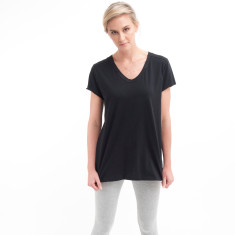 Rounded V Tee in Black