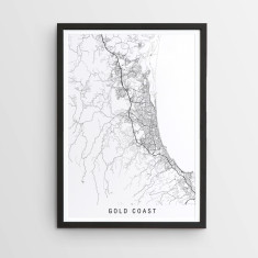 Gold Coast minimalist map print