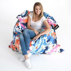 Coloured swirl bean bag cover