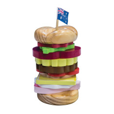 iconic Aussie stacking burger