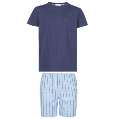 Boy's Blue Checked Shorts and Tee