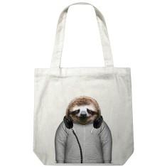 Sloth canvas tote