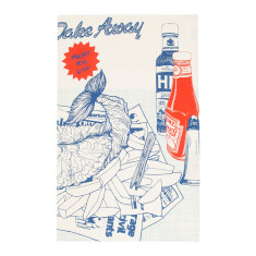Big fish tea towel