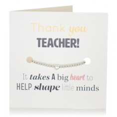 Thank you teacher bracelet & card set