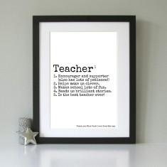 Personalised gift for teacher art print