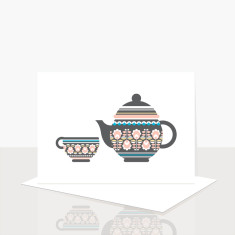 Teapot Greeting Card (Pack of 8)