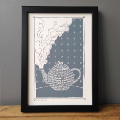 Tea varieties teapot print