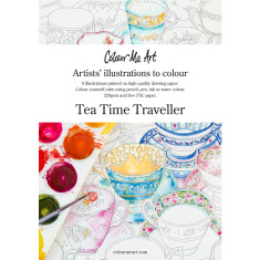 Tea Time Traveller adult colouring book