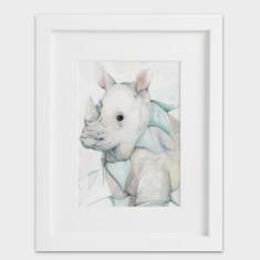 Party Animals Rhino - Rhinoceros Print