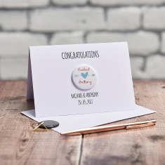 Personalised Wedding Engagement Badge Card