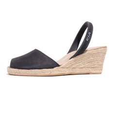 Dorata nubuck leather sandals in black