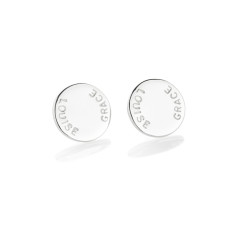 Tess personalised sterling silver earrings