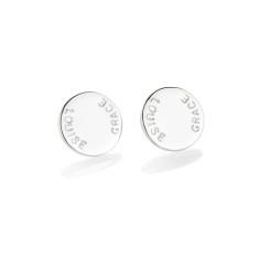 Tess personalised sterling silver earrings