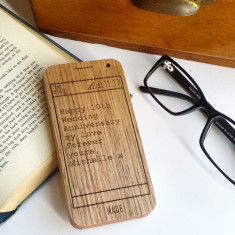 Text message personalised wooden keepsake