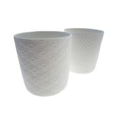 Textured ceramic bowls