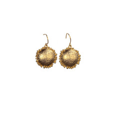 Textured dome earrings in gold