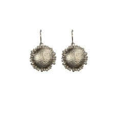Textured dome earrings in silver
