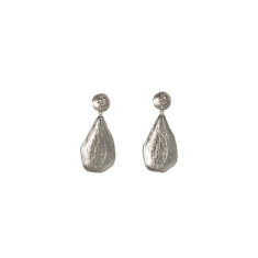 Textured teardrop stud earrings in earrings