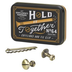 Gents Hardware cufflinks & tie clip