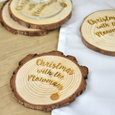 Christmas With The… Personalised Wooden Coasters