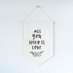 All you need is love wall flag