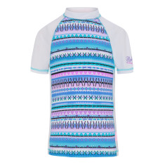 Girls' UPF 50+ aztec fitted sunshirt short sleeve