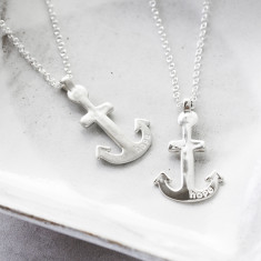 Girl's Silver Anchor Necklace
