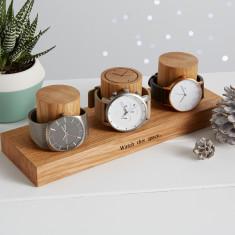 Solid Oak Watch Stand