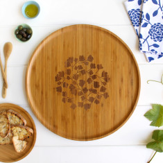 Bamboo large platter in fern