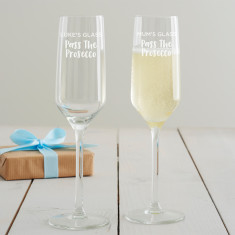 Personalised Pass the Prosecco Glass Flute