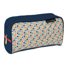 Vintage deck of cards print toiletry bag