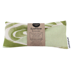 Lavender or rose scented eye pillow in olive