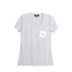 Give us a women's t!shirt (grey/white)
