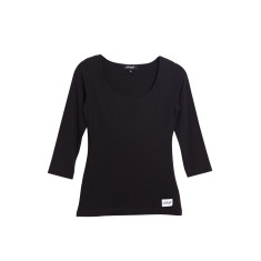 Hold 'em up bust support top in black